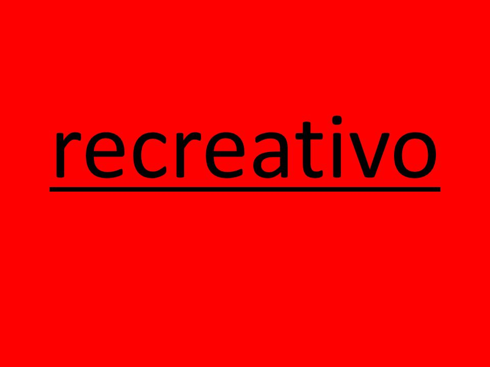 recreativo