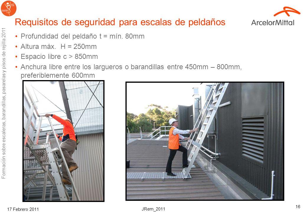 JRem_2011 Formación sobre escaleras, barandillas, pasarelas y pisos de rejilla 2011 17 Febrero 2011 15 Puertas de cierre automático Self closing gate