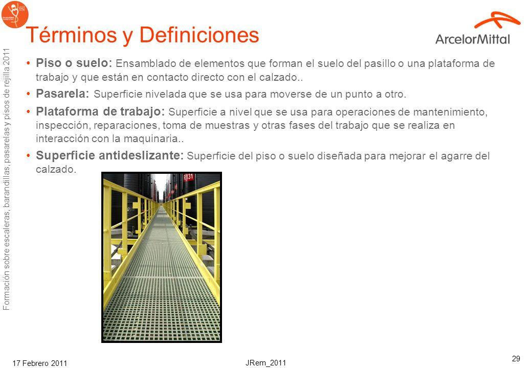 II. Formación en suelos de rejilla de acero Seguridad y Salud Corporativo ArcelorMittal Febrero, 2011