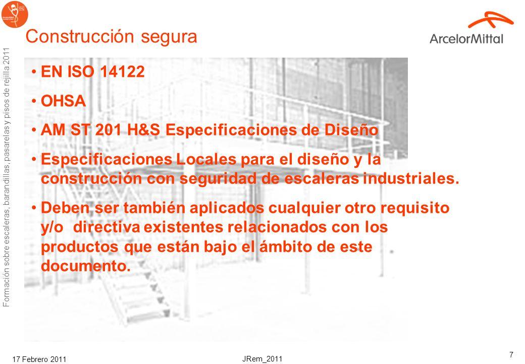 JRem_2011 Formación sobre escaleras, barandillas, pasarelas y pisos de rejilla 2011 17 Febrero 2011 6 ¡!Resbalones y caídas! La Oficina de Estadística