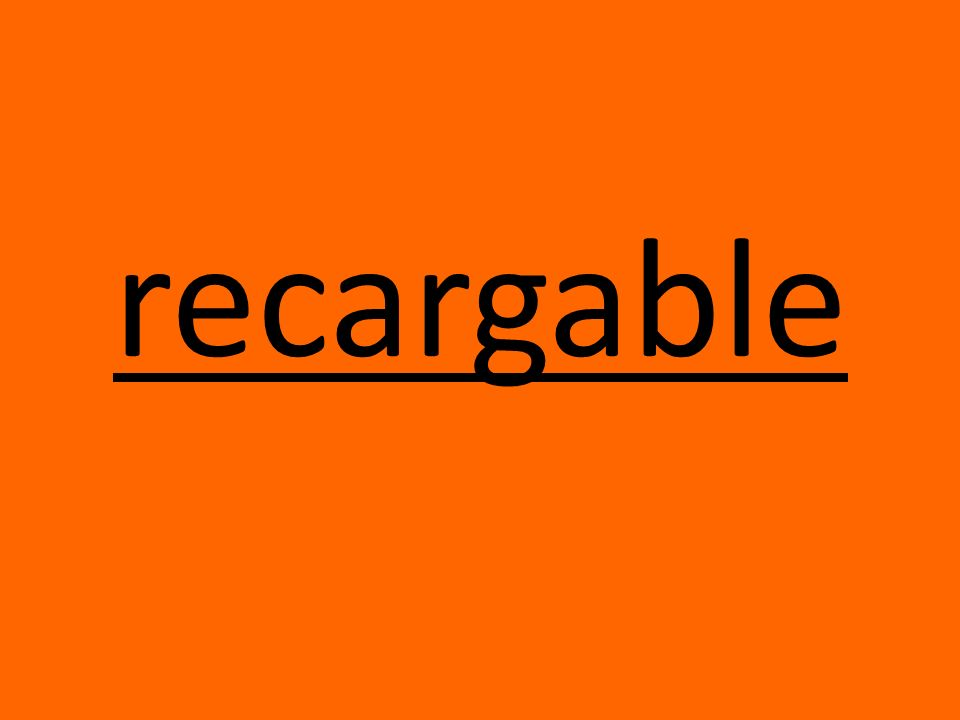 recargable