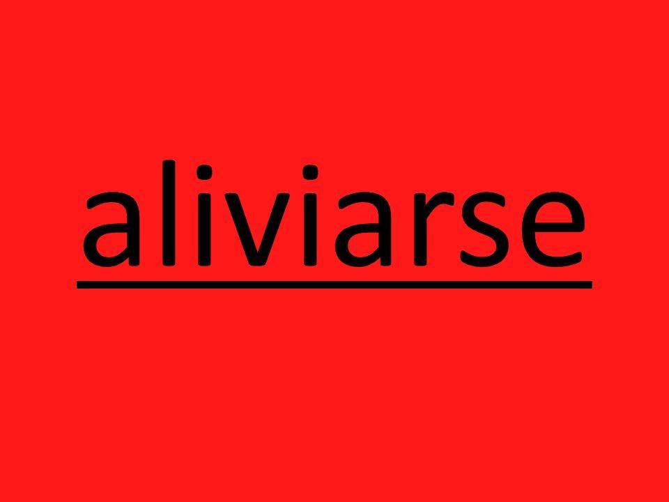 aliviarse