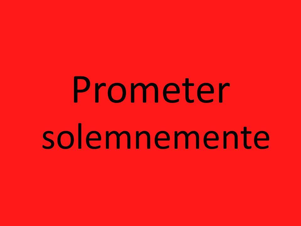 Prometer solemnemente