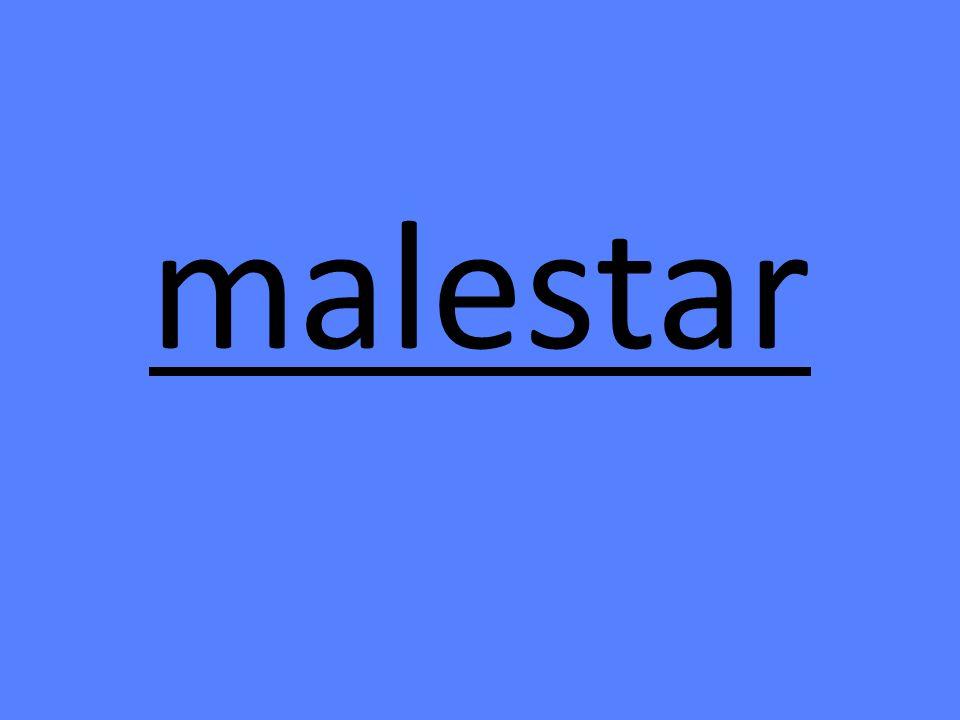 malestar