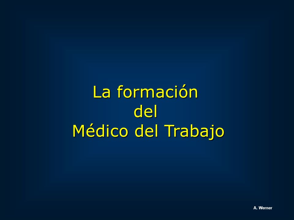 Area Patología Patología ocupacional Dr.Antonio Werner Toxicología ocupacional Dr.