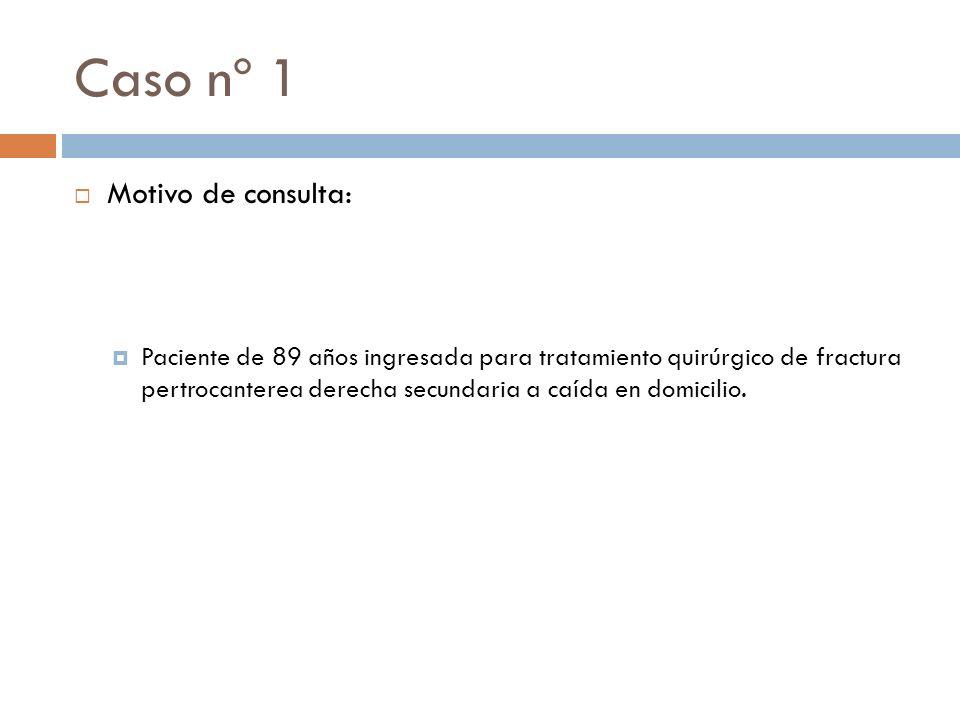 Caso nº2 EXPLORACIÓN FÍSICA: Tª: 36.7ºC TA: 176/80mmHg FC: 74lpm Paciente consciente y orientado en las 3 esferas.