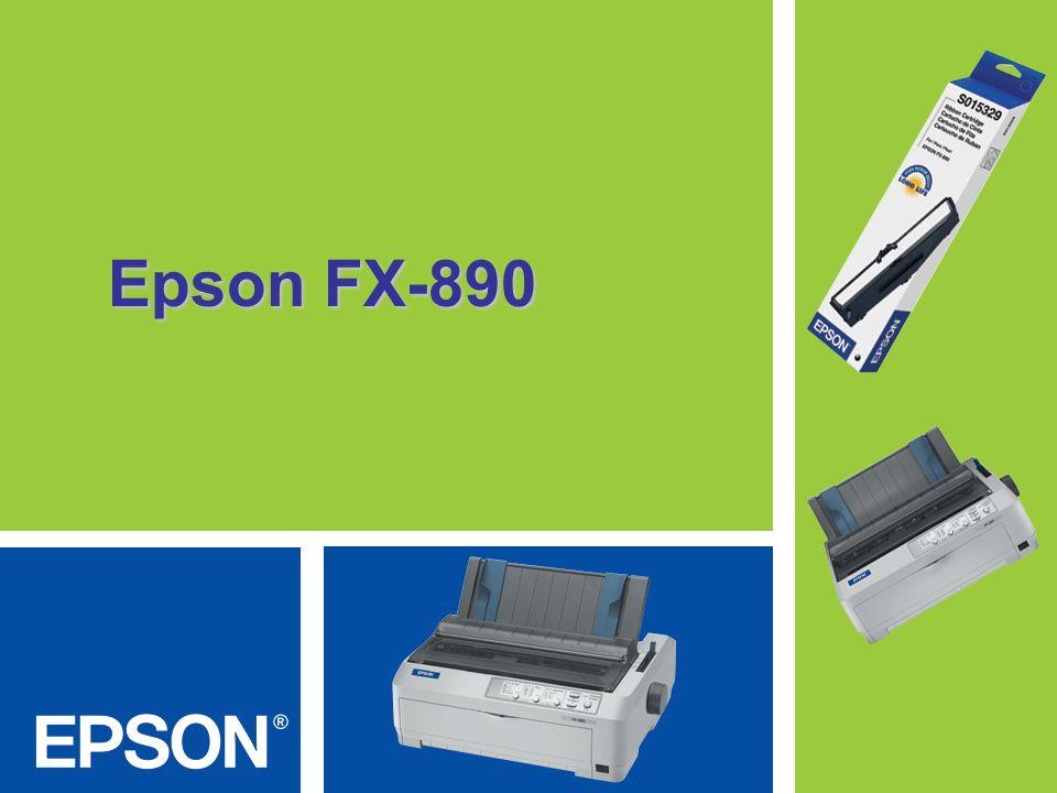 Fácilmente integrable y un máximo de productividad en ambientes de impresión exigentes Una impresora completa y de gran rendimiento, la Epson FX- 890 es durable y fácil de usar en los exigentes requerimientos de impresión diarios.
