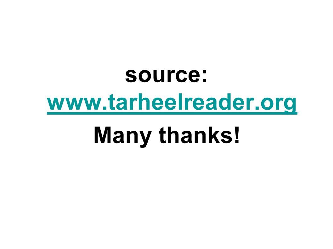 source: www.tarheelreader.org www.tarheelreader.org Many thanks!