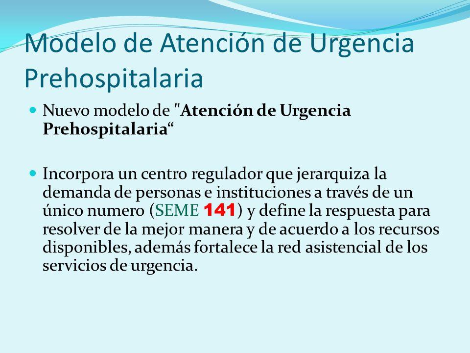 Modelo de Atención de Urgencia Prehospitalaria Nuevo modelo de