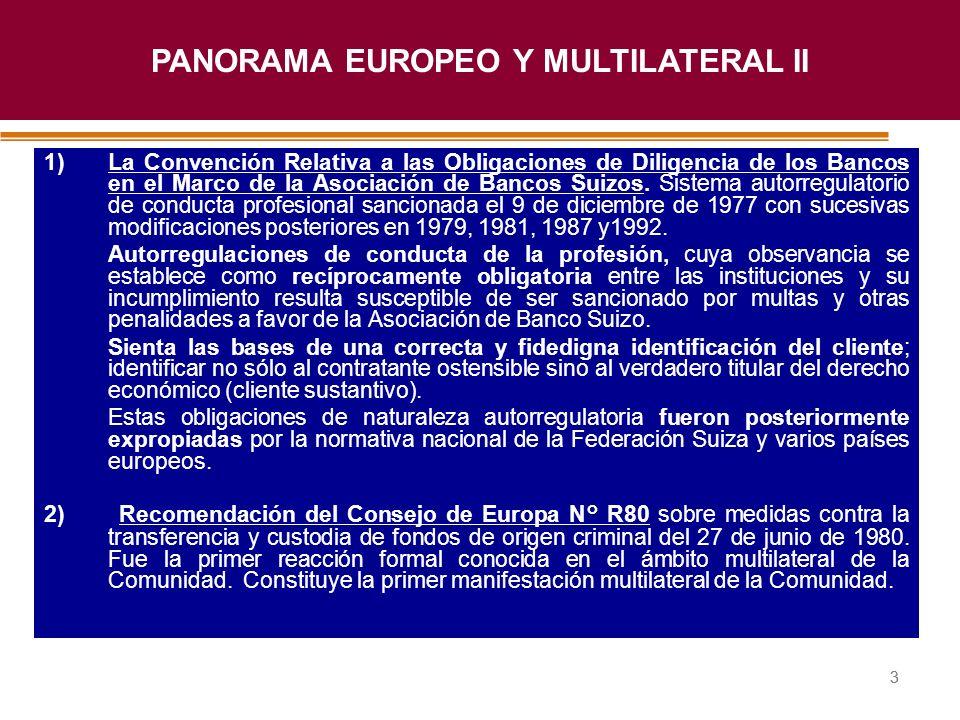 Haga clic para modificar el estilo de título del patrón 33 1)La Convención Relativa a las Obligaciones de Diligencia de los Bancos en el Marco de la A
