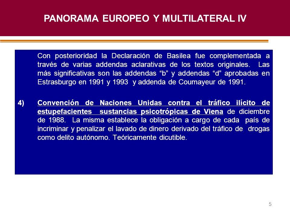 Haga clic para modificar el estilo de título del patrón 55 Con posterioridad la Declaración de Basilea fue complementada a través de varias addendas a