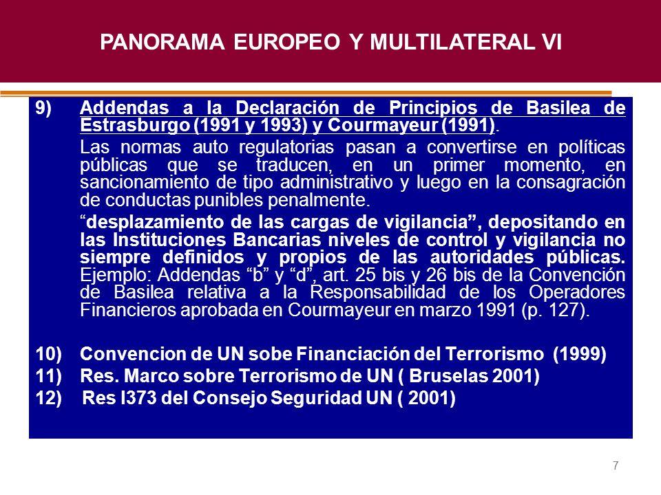 Haga clic para modificar el estilo de título del patrón 77 9)Addendas a la Declaración de Principios de Basilea de Estrasburgo (1991 y 1993) y Courmay