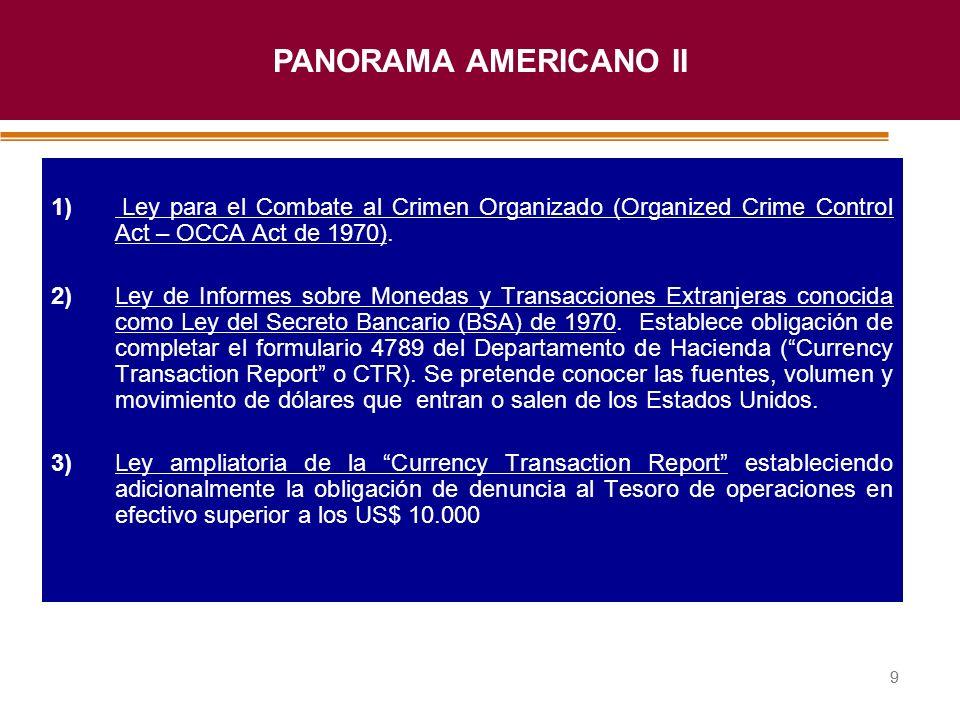 Haga clic para modificar el estilo de título del patrón 99 1) Ley para el Combate al Crimen Organizado (Organized Crime Control Act – OCCA Act de 1970