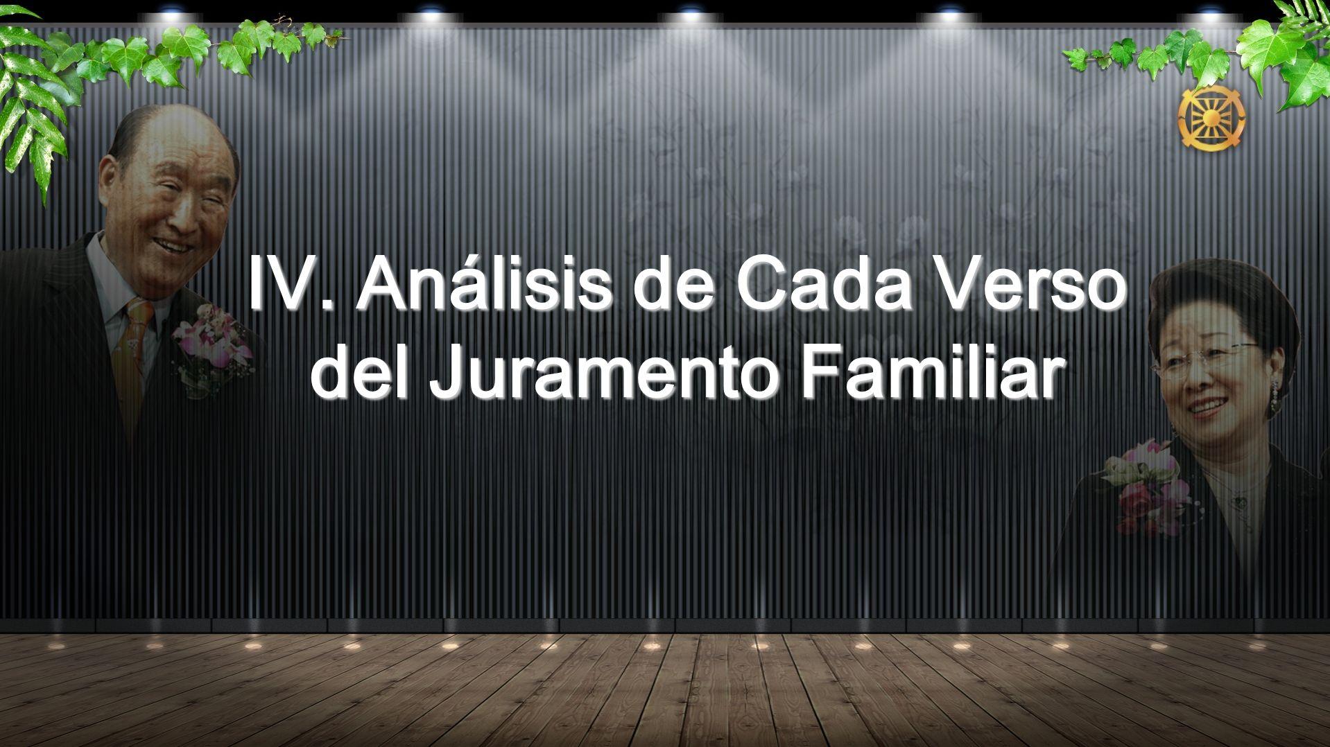 IV. Análisis de Cada Verso del Juramento Familiar