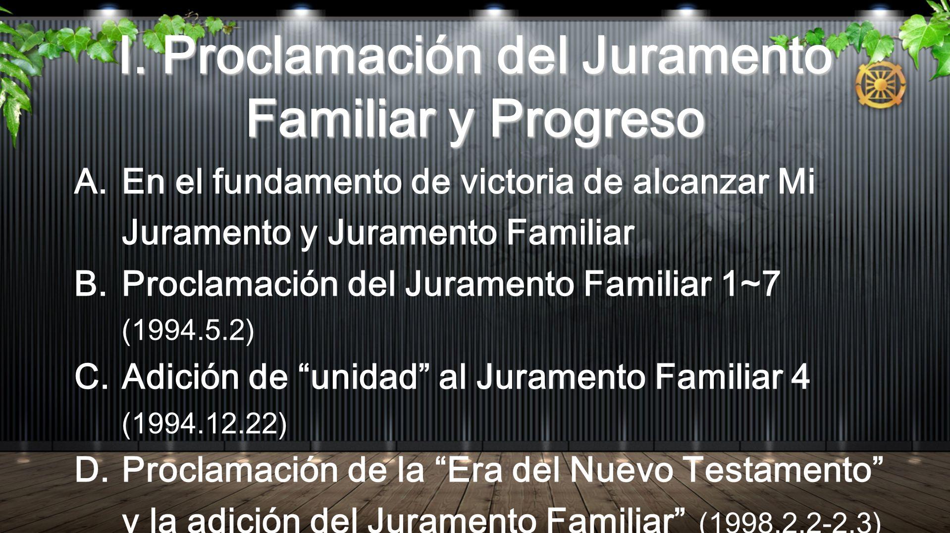 Juramento Familiar 2 A.