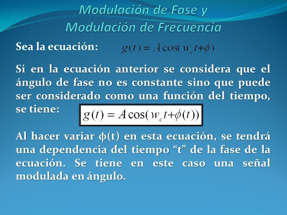 Sea la ecuación: Si en la ecuación anterior se considera que el ángulo de fase no es constante sino que puede ser considerado como una función del tie