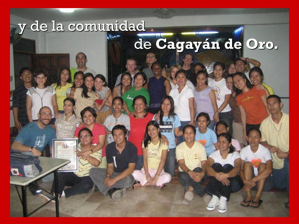 y de la comunidad de Cagayán de Oro.