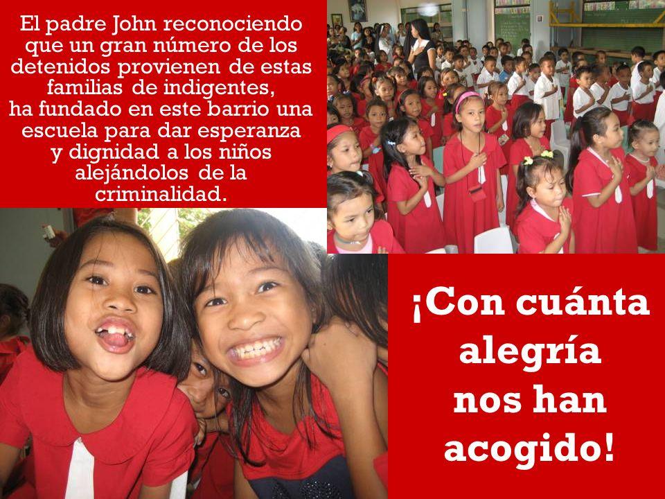 El padre John reconociendo que un gran número de los detenidos provienen de estas familias de indigentes, ha fundado en este barrio una escuela para dar esperanza y dignidad a los niños alejándolos de la criminalidad.