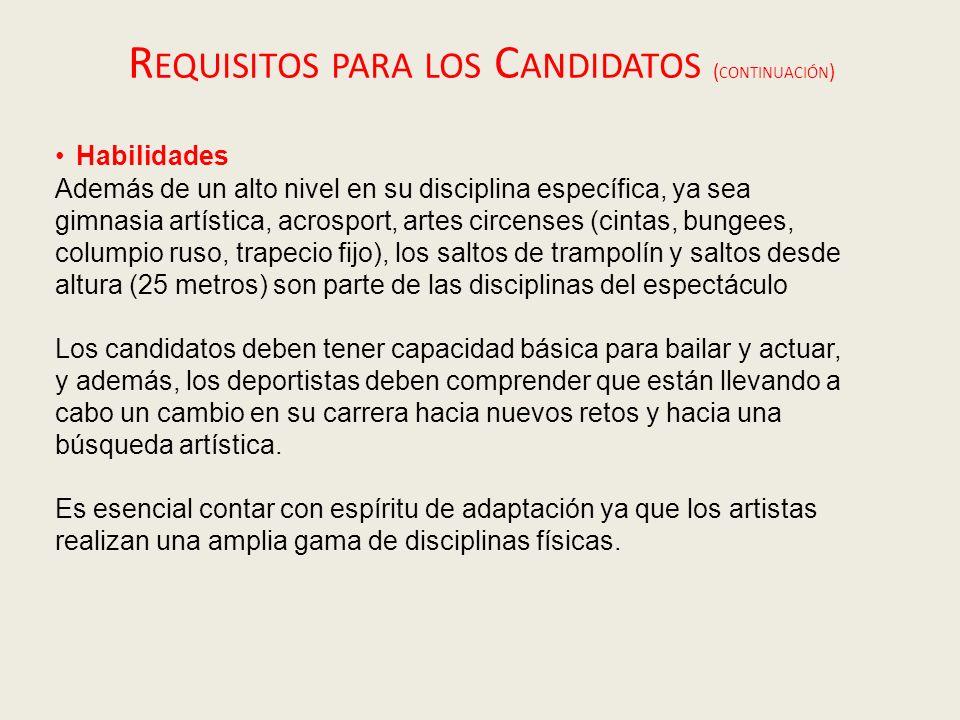 Calendario de las audiciones Las audiciones se llevarán a cabo en Madrid los días 10 y 12 de Noviembre.