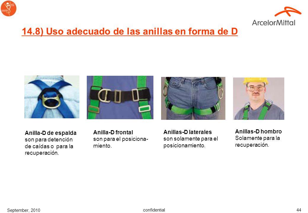 confidential September, 2010 43 14.7) Instrucciones para enganchar hebillas Hebilla de lengüeta Inserte la correa suelta a través de la lengüeta de la