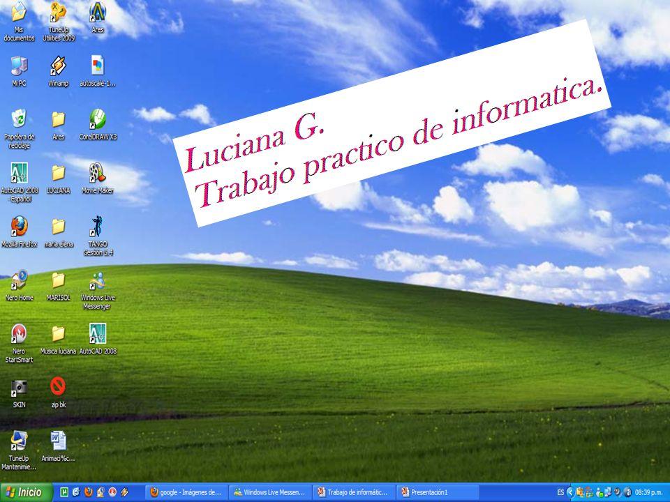 Luciana G. Trabajo de informática
