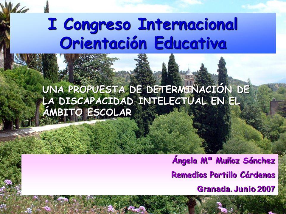 I Congreso Internacional Orientación Educativa Ángela Mª Muñoz Sánchez Remedios Portillo Cárdenas Granada. Junio 2007 UNA PROPUESTA DE DETERMINACIÓN D