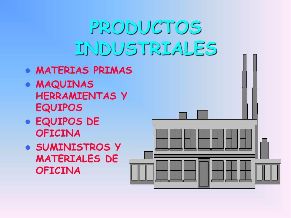 PRODUCTOS INDUSTRIALES MATERIAS PRIMAS MAQUINAS HERRAMIENTAS Y EQUIPOS EQUIPOS DE OFICINA SUMINISTROS Y MATERIALES DE OFICINA