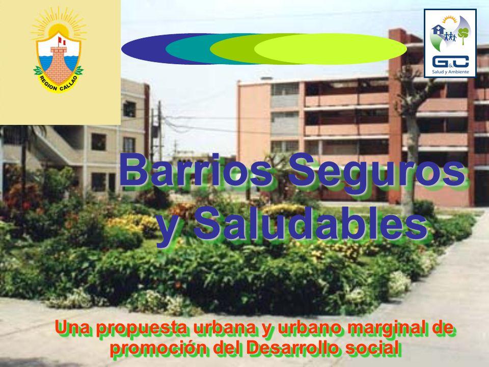 Barrios Seguros y Saludables Una propuesta urbana y urbano marginal de promoción del Desarrollo social