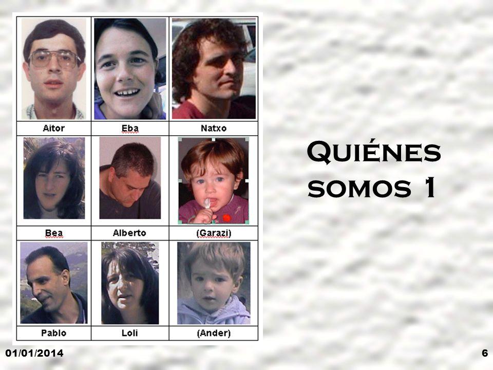 01/01/20146 Quiénes somos 1