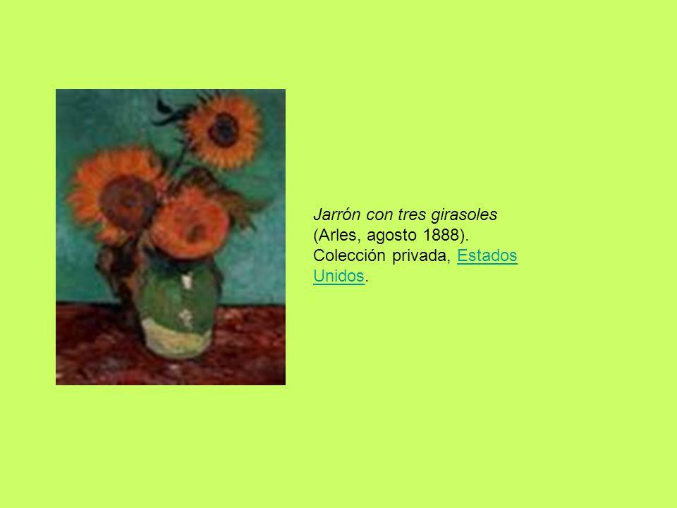 Jarrón con tres girasoles (Arles, agosto 1888). Colección privada, Estados Unidos.Estados Unidos