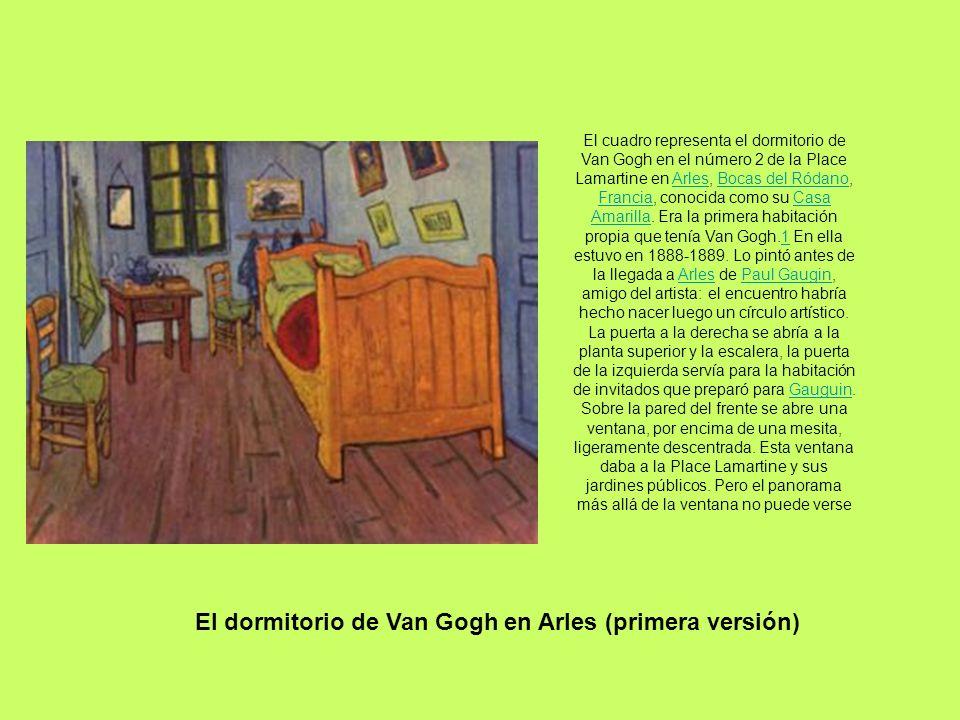 El cuadro representa el dormitorio de Van Gogh en el número 2 de la Place Lamartine en Arles, Bocas del Ródano, Francia, conocida como su Casa Amarill