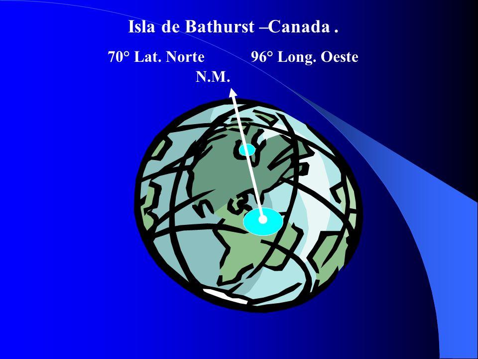 Isla de Bathurst –. 70° Lat. Norte96° Long. Oeste Canada N.M.