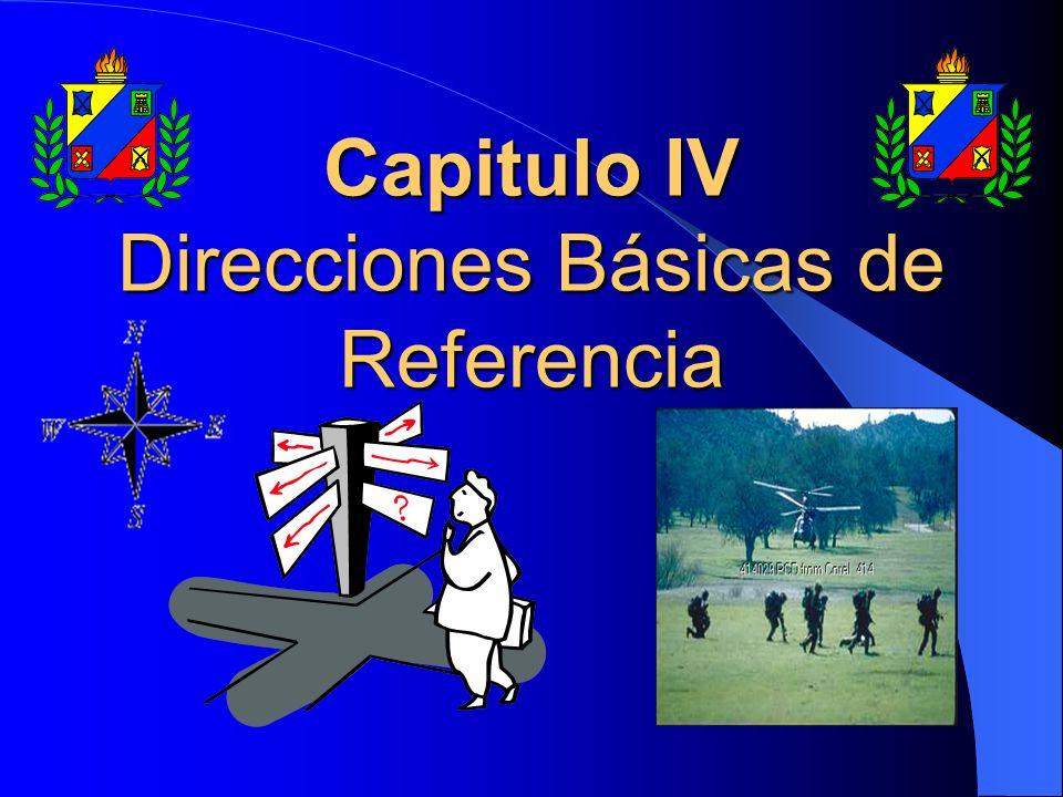 Direcciones Básicas de Referencia NORTE RETICULAR (NR): Es la dirección de las líneas verticales de las cartas y mapas militares.