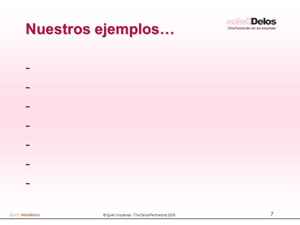 Otra forma de ver su empresa © fguell iniciatives - The Delos Partnership 2005 38 CUESTIONARIO GATE 3