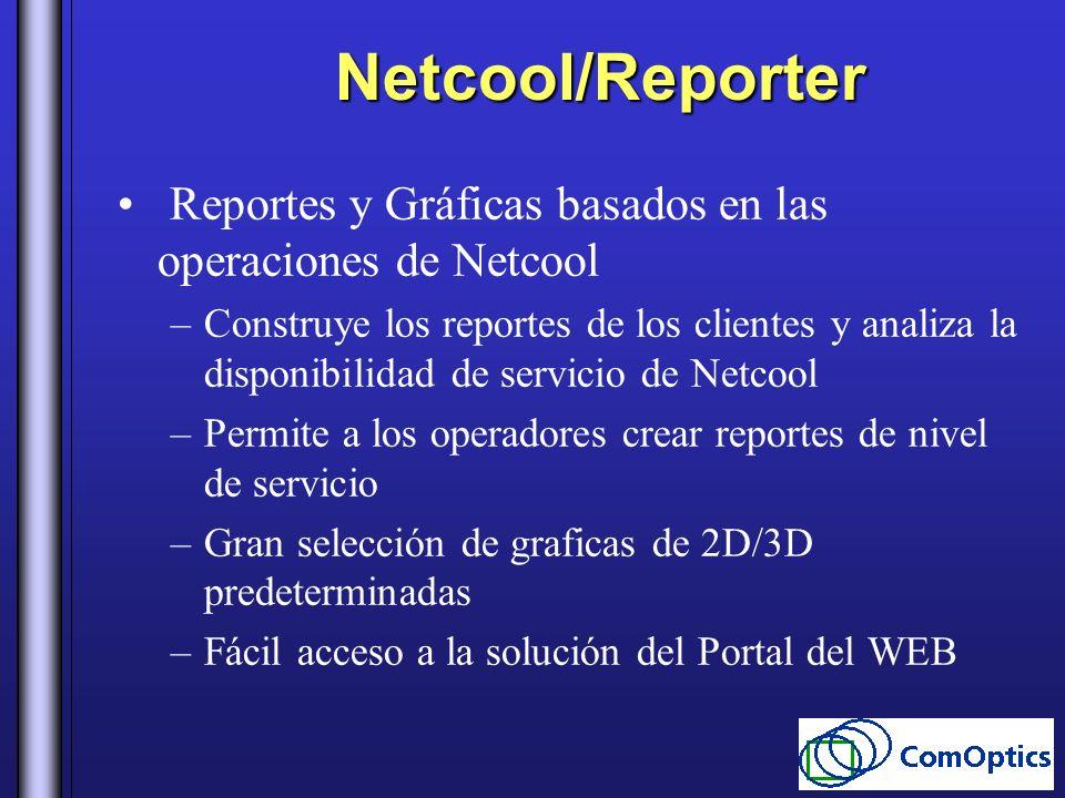 Netcool/Reporter Reportes y Gráficas basados en las operaciones de Netcool –Construye los reportes de los clientes y analiza la disponibilidad de serv