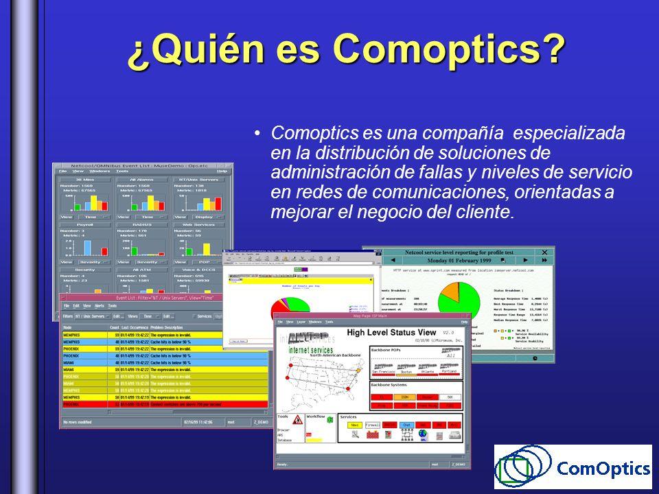 ¿Quién es Comoptics? Comoptics es una compañía especializada en la distribución de soluciones de administración de fallas y niveles de servicio en red