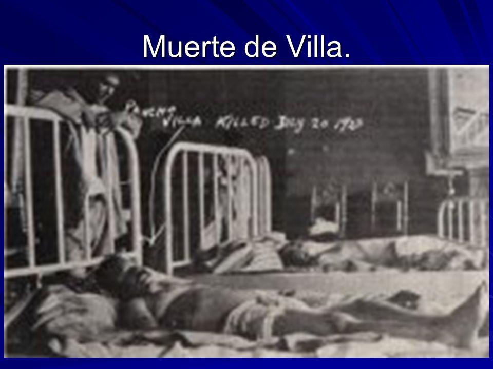 Muerte de Villa.