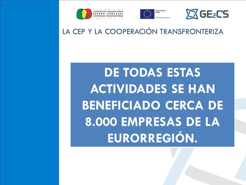 CONFEDERACIÓN DE EMPRESARIOS DE TEVEDRA DE TODAS ESTAS ACTIVIDADES SE HAN BENEFICIADO CERCA DE 8.000 EMPRESAS DE LA EURORREGIÓN. LA CEP Y LA COOPERACI
