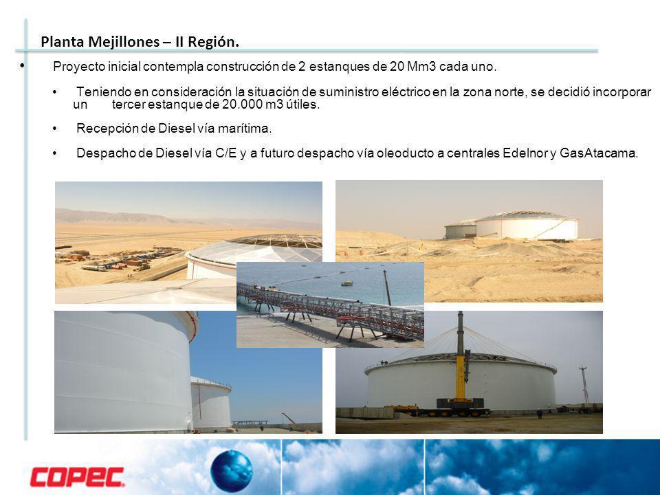 Proyecto inicial contempla construcción de 2 estanques de 20 Mm3 cada uno.