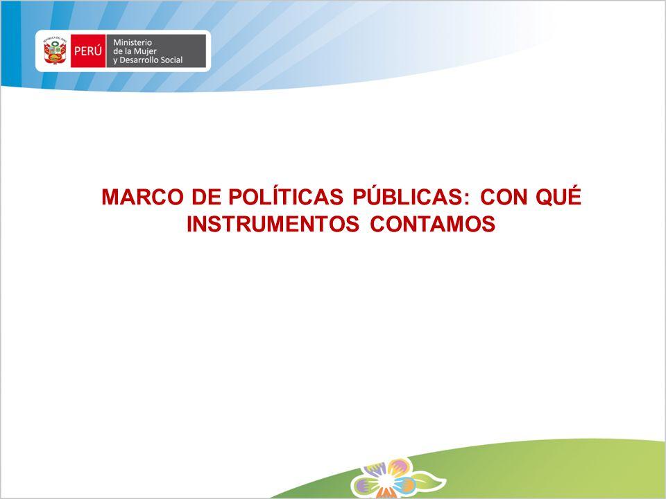 MARCO DE POLÍTICAS PÚBLICAS: CON QUÉ INSTRUMENTOS CONTAMOS