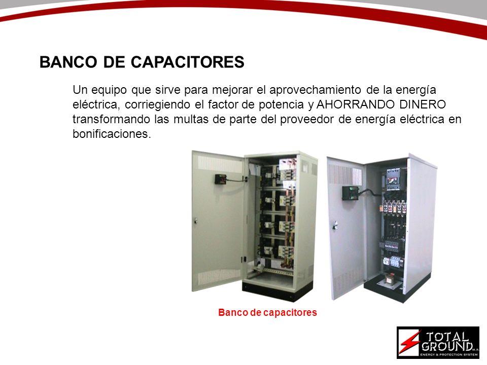 Un equipo que sirve para mejorar el aprovechamiento de la energía eléctrica, corriegiendo el factor de potencia y AHORRANDO DINERO transformando las m