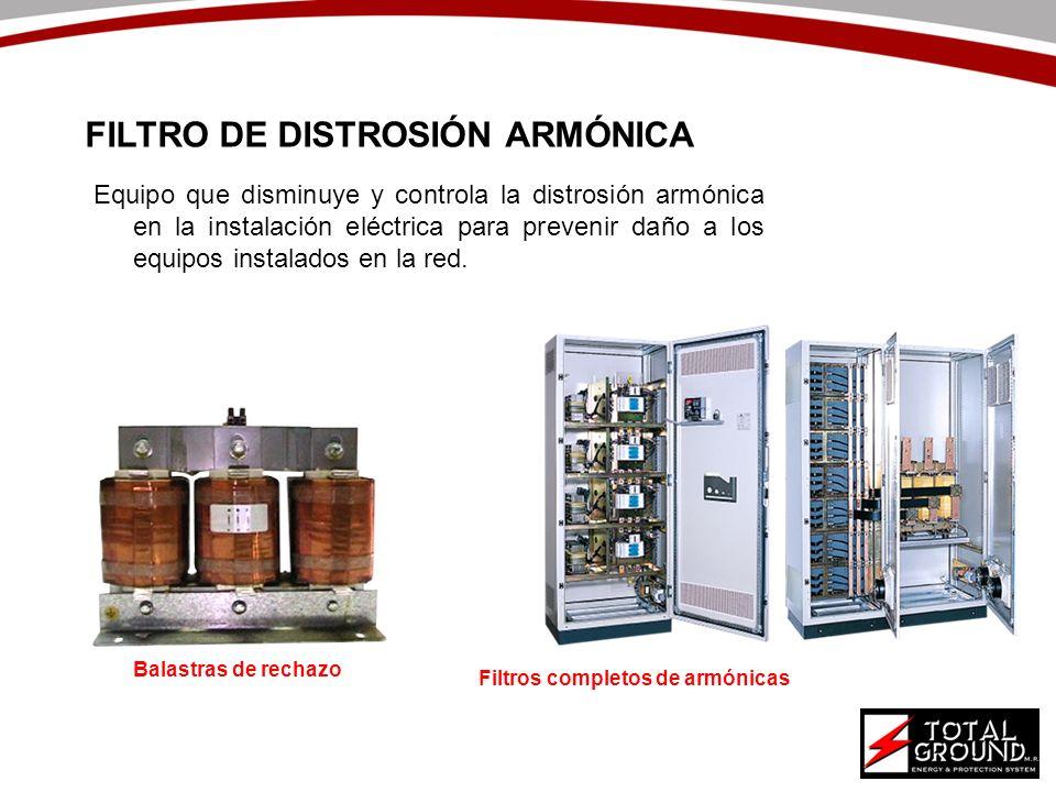 Equipo que disminuye y controla la distrosión armónica en la instalación eléctrica para prevenir daño a los equipos instalados en la red. FILTRO DE DI