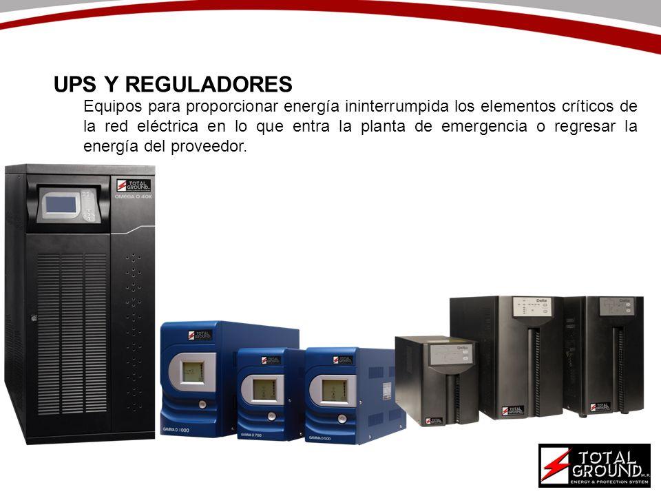 Equipos para proporcionar energía ininterrumpida los elementos críticos de la red eléctrica en lo que entra la planta de emergencia o regresar la ener