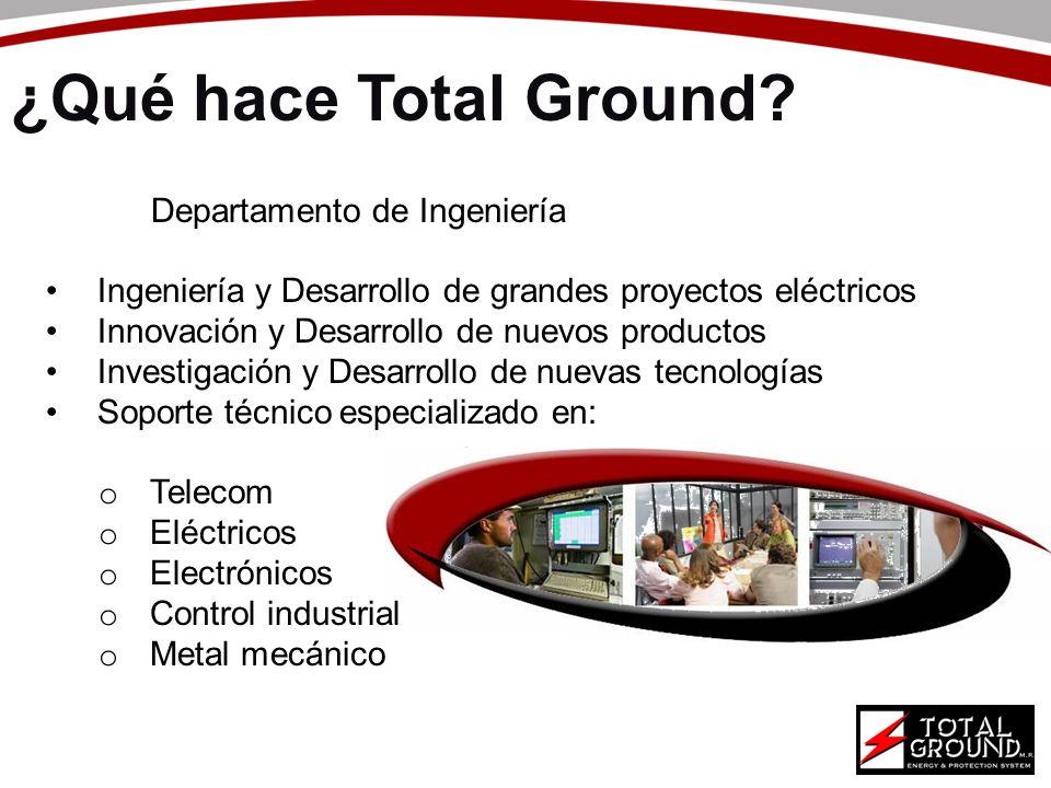 Departamento de Ingeniería Ingeniería y Desarrollo de grandes proyectos eléctricos Innovación y Desarrollo de nuevos productos Investigación y Desarro