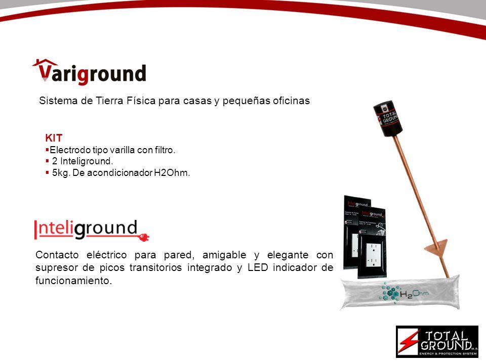 Contacto eléctrico para pared, amigable y elegante con supresor de picos transitorios integrado y LED indicador de funcionamiento. KIT Electrodo tipo