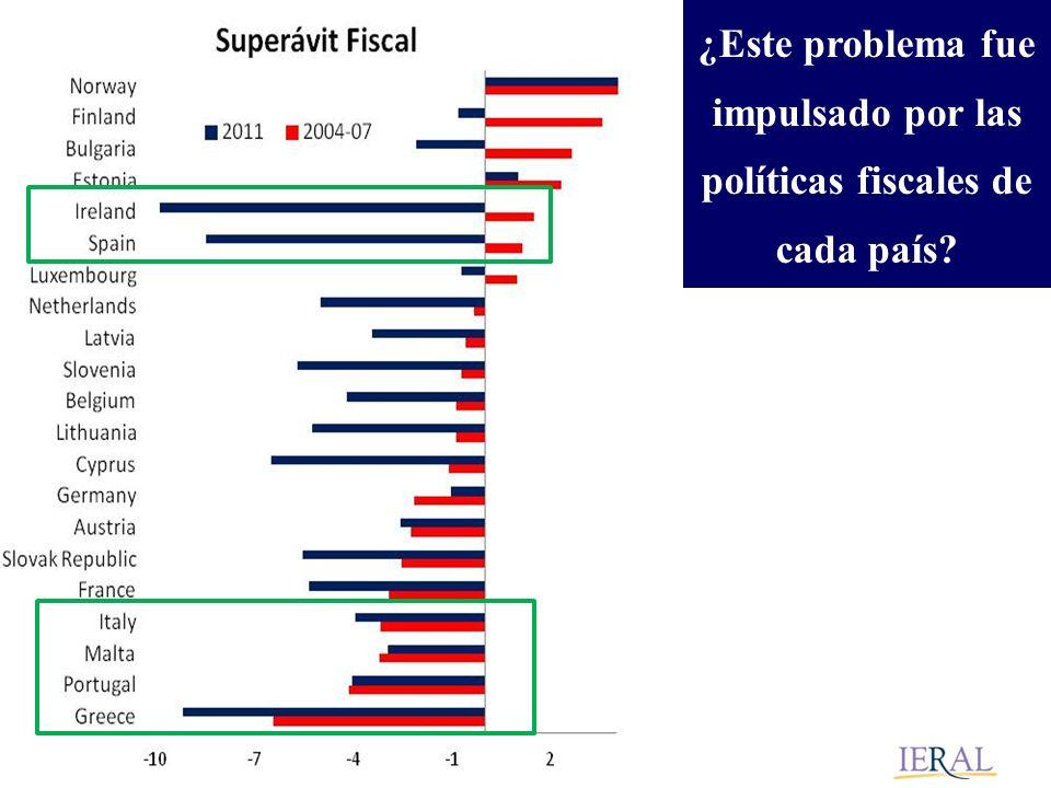 ¿Este problema fue impulsado por las políticas fiscales de cada país