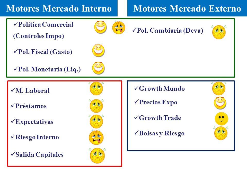 Pol. Fiscal (Gasto) M. Laboral Préstamos Riesgo Interno Expectativas Salida Capitales Pol.