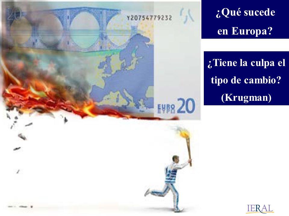 ¿Qué sucede en Europa ¿Tiene la culpa el tipo de cambio (Krugman)