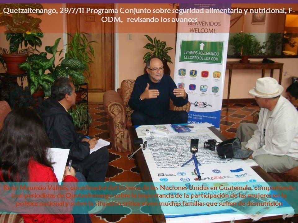 René Mauricio Valdés, coordinador del Sistema de las Naciones Unidas en Guatemala, compartiendo con periodistas de Quetzaltenango sobre la importancia