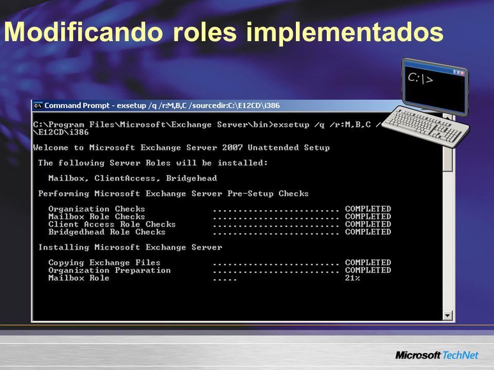 Modificando roles implementados